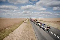 the peloton train rolling through<br /> <br /> Stage 3: Binche (BEL) to Épernay (FRA)(214km)<br /> 106th Tour de France 2019 (2.UWT)<br /> <br /> ©kramon