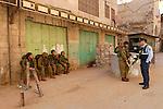 Judea, Hebron Mountain. Israeli soldiers in Hebron