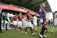 Arsenal vs Leeds United - Womens FA Cup Final at Millwall Football Club - 01/05/06 - The teams take to the pitch - (Gavin Ellis 2006)