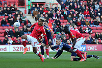 Lyle Taylor scores Charlton's opening goal during Charlton Athletic vs Barnsley, Sky Bet EFL Championship Football at The Valley on 1st February 2020