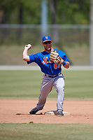 New York Mets Nick Sergakis (55) during practice before a minor league Spring Training game against the Miami Marlins on March 26, 2017 at the Roger Dean Stadium Complex in Jupiter, Florida.  (Mike Janes/Four Seam Images)