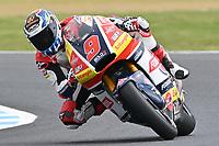 October 27, 2018: Jorge Navarro (SPA) on the No.9 KALEX from Federal Oil Gresini Moto2 during the Moto2 practice session three at the 2018 MotoGP of Australia at Phillip Island Grand Prix Circuit, Victoria, Australia. Photo Sydney Low