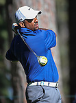 Alfonso Ribeiro watches a shot in the final round of the American Century Championship at Edgewood Tahoe Golf Course in Stateline, Nev., on Sunday, July 19, 2015. <br /> Photo by Cathleen Allison