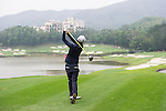 Anne-Lise Caudal of France tees off at the 15th hole during Round 2 of the World Ladies Championship 2016 on 12 March 2015 at Mission Hills Olazabal Golf Course in Dongguan, China. Photo by Lucas Schifres / Power Sport Images