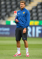 11th September 2021; Swansea.com Stadium, Swansea, Wales; EFL Championship football, Swansea versus Hull City; George Moncur of Hull City inspects the pitch before kick off