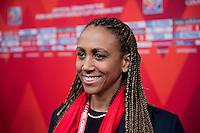 Gatineau, Quebec - December 6, 2014: FIFA held the draw for the 2015 Women's World Cup at the Canadian Museum of History.