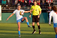 Portland, OR - Sunday March 11, 2018: Alyssa Mautz during a National Women's Soccer League (NWSL) pre season match between the Portland Thorns FC and the Chicago Red Stars at Merlo Field.