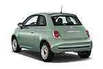 Car pictures of rear three quarter view of 2017 Fiat 500 Pop 3 Door Hatchback Angular Rear