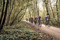 leading group over the Plugstreets gravel section<br /> <br /> 82nd Gent-Wevelgem in Flanders Fields 2020 (1.UWT)<br /> 1 day race from Ieper to Wevelgem (232km)<br /> <br /> ©kramon