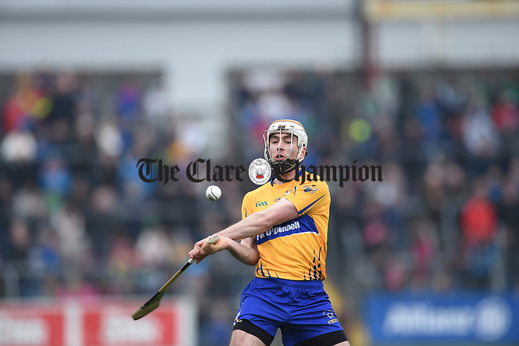Clare' Conor Mc Grath during their Div. 1b Round 5 game against Limerick in Cusack park. Photograph by John Kelly.