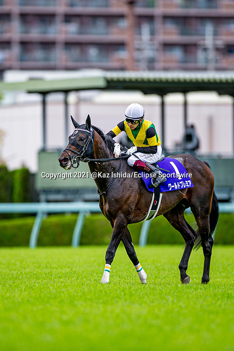 TAKARAZUKA,JAPAN-MAY 2: World Premiere,ridden by Yuichi Fukunaga, after winning the Tenno Sho (spring) at Hanshin Racecourse on May 2,2021 in Takarazuka,Hyogo,Japan. Kaz Ishida/Eclipse Sportswire/CSM