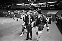 1982, ABN WTT, Eric Savalle met Mel Purcell en Jimmy Connors(r)
