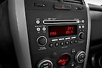 Stereo audio system close up detail view of a 2009 Suzuki Grand Vitara