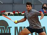 Christian Garin, Chile, during Mutua Madrid Open Tennis 2021 match. May 7, 2021.(ALTERPHOTOS/Alberto Simon)
