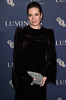Olivia Colman<br /> arriving for the LUMINOUS Gala 2019 at the Roundhouse Camden, London<br /> <br /> ©Ash Knotek  D3522 01/10/2019