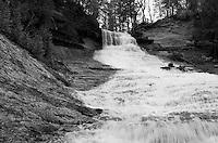 Laughing Whitefish Falls during the spring season. Western Alger County - Michigan's Upper Peninsula.