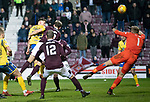 Hearts v St Johnstone…..14.12.19   Tynecastle   SPFL<br />Callum Hendry scores for St Johnstone to make it 1-0<br />Picture by Graeme Hart.<br />Copyright Perthshire Picture Agency<br />Tel: 01738 623350  Mobile: 07990 594431