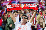 Supporters of Atletico de Madrid during match of UEFA Champions League at Vicente Calderon Stadium in Madrid. September 28, Spain. 2016. (ALTERPHOTOS/BorjaB.Hojas)