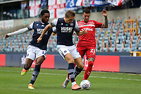 Shaun Hutchinson of Millwall and Marvin Johnson of Middlesbrough during Millwall vs Middlesbrough, Sky Bet EFL Championship Football at The Den on 8th July 2020