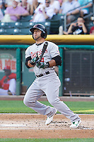 Jose Martinez (4) of the Sacramento River Cats at bat against the Salt Lake Bees at Smith's Ballpark on June 6, 2014 in Salt Lake City, Utah.  (Stephen Smith/Four Seam Images)