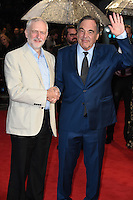 """Jeremy Corbyn and Oliver Stone<br /> at the London Film Festival 2016 premiere of """"Snowden"""" at the Odeon Leicester Square, London.<br /> <br /> <br /> ©Ash Knotek  D3181  15/10/2016"""