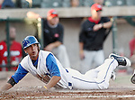 Fort Worth Cats Infielder Rob Recuenco (15) in action during the American Association of Independant Professional Baseball game between the Grand Prairie AirHogs and the Fort Worth Cats at the historic LaGrave Baseball Field in Fort Worth, Tx. Fort Worth defeats Grand Prairie 6 to 1.....