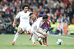 Real Madrid´s Marcelo and Di Maria and Barcelona´s neymar Jr during La Liga match in Santiago Bernabeu stadium in Madrid, Spain. March 23, 2014. (ALTERPHOTOS/Victor Blanco)