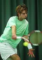 10-3-06, Netherlands, tennis, Rotterdam, National indoor junior tennis championchips, Andoni Kapnisakis