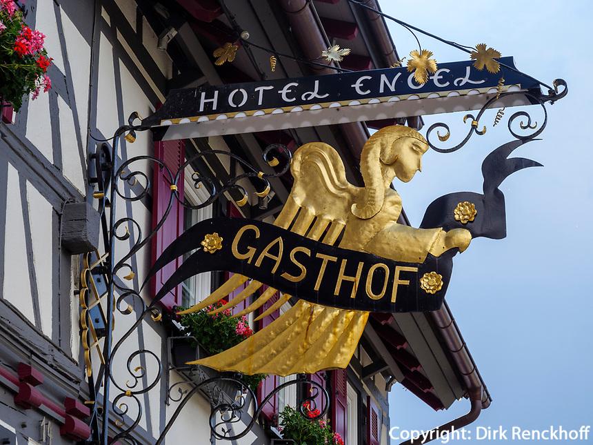 Hotel Engel, Sasbachwalden, Baden-Württemberg, Deutschland, Europa<br /> Hotel Engel, Sasbachwalden, Baden-Wuerttemberg, Germany, Europe