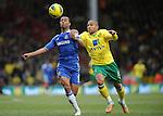 Norwich City Vs Chelsea.<br /> Simeon Jackson of Norwich City and Ashley Cole of Chelsea