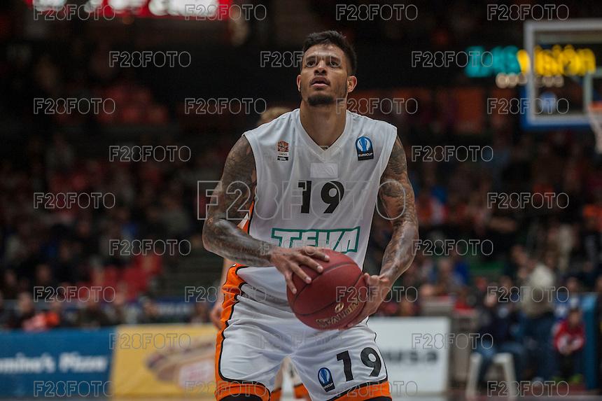VALENCIA, SPAIN - December 2: Chris Babb during EUROCUP match between Valencia Basket Club and Ratiopharm ULM at Fonteta Stadium on December 2, 2015