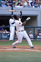 July 15, 2009: Oklahoma City RedHawks' Esteban German at-bat during the 2009 Triple-A All-Star Game at PGE Park in Portland, Oregon.