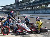 Verizon IndyCar Series<br /> IndyCar Grand Prix<br /> Indianapolis Motor Speedway, Indianapolis, IN USA<br /> Saturday 13 May 2017<br /> Graham Rahal, Rahal Letterman Lanigan Racing Honda pit stop<br /> World Copyright: Geoffrey M. Miller LAT Images