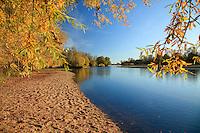 France, Nièvre (58), Pouilly-sur-Loire, la Loire en automne // France, Nièvre, Poulliy-sur-Loire, the Loire river in autumn