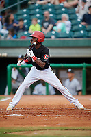 Chattanooga Lookouts second baseman Nick Gordon (1) squares around to bunt during a game against the Jackson Generals on May 9, 2018 at AT&T Field in Chattanooga, Tennessee.  Chattanooga defeated Jackson 4-2.  (Mike Janes/Four Seam Images)