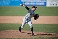 West Virginia Black Bears relief pitcher Beau Sulser (58) delivers a pitch during a game against the Batavia Muckdogs on June 25, 2017 at Dwyer Stadium in Batavia, New York.  Batavia defeated West Virginia 4-1 in nine innings of a scheduled seven inning game.  (Mike Janes/Four Seam Images)