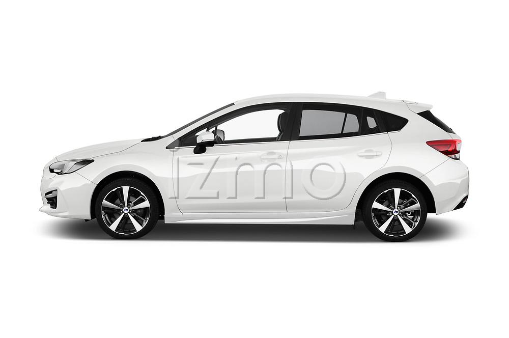 Car Driver side profile view of a 2018 Subaru Impreza Premium 5 Door Hatchback Side View