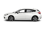 Car Driver side profile view of a 2018 Subaru Impreza Premium 5 Door Hatchback Side View