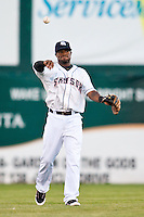 August 7,2010 Eric Young Jr. (3) in action during the MiLB game between the New Orleans Zephyrs and the Colorado Springs Sky Sox at Security Service Field in Colorado Springs Colorado.