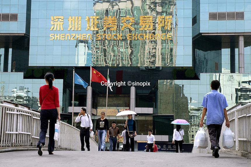 Shenzhen Stock Exchange building, China..