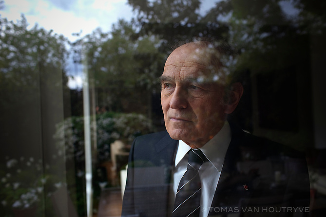 """Samuel Pisar, photographed inside his home in Paris, France on 2 May 2010. Pisar is a renowned international lawyer, an author and a Knight of the French Legion of Honor. He was 10 when his native Poland was invaded by Stalin and then Hitler. He survived the Nazi death camps of Majdanek, Auschwitz and Dachau, escaping at the age of 16. At the request of Leonard Bernstein, Pisar wrote the lyrics to Bernstein's Symphony No. 3, the """"Kaddish."""""""