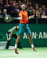 Rotterdam, The Netherlands, February 14, 2016,  ABNAMROWTT, Men's single final, Gael Monfils (FRA)<br /> Photo: Tennisimages/Henk Koster