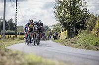 Adrien Niyonshuti (RWA/Team Dimension Data) leading the bunch <br /> <br /> 102nd Kampioenschap van Vlaanderen 2017 (UCI 1.1)<br /> Koolskamp - Koolskamp (192km)