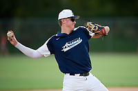Tyler Ras (5) while playing for Tri-State Arsenal Prime based out of Voorhees, New Jersey during the WWBA World Championship at the Roger Dean Complex on October 21, 2017 in Jupiter, Florida.  Tyler Ras is a pitcher / outfielder / third baseman from Middletown, New Jersey who attends Middletown North High School.  (Mike Janes/Four Seam Images)