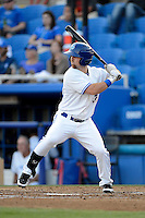 Dunedin Blue Jays outfielder Matt Newman #15 during a game against the Tampa Yankees on April 11, 2013 at Florida Auto Exchange Stadium in Dunedin, Florida.  Dunedin defeated Tampa 3-2 in 11 innings.  (Mike Janes/Four Seam Images)