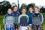 Kerry Ladies newcomers for this season Niamh Kearney Spa, Mary O'Connel NA Gaeil, Cait Lynch Castleisland Desmonds, Mairead Lehane MKL Gaels and Sarah Murphy Rathmore