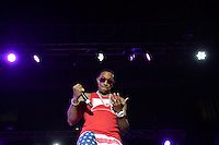 """Largo, MD - July 12, 2014: Grammy award winning Hip Hop entertainer and actor Ludacris performs at the 1st annual International Festival at the Largo Town Center in Largo, MD, July 12, 2014. He is also known for his roles in the """"Fast and Furious"""" movies. (Photo by Don Baxter/Media Images International)"""