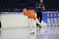 SCHAATSEN: HEERENVEEN: 10-10-2020, KNSB Trainingswedstrijd, Crispijn Ariëns, ©foto Martin de Jong
