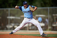 Jacob Scherer during the WWBA World Championship at the Roger Dean Complex on October 20, 2018 in Jupiter, Florida.  Jacob Scherer is a right handed pitcher from Mandeville, Louisiana who attends The Saint Pauls School Senior Boys High School and is committed to Louisiana State.  (Mike Janes/Four Seam Images)