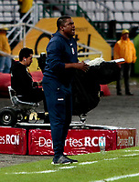 MANIZALES - COLOMBIA - 29 - 03 - 2018: Hubert Bodhert, técnico de Once Caldas, durante partido entre Once Caldas y Millonarios, de la fecha 11 por la Liga de Aguila I 2018 en el estadio Palogrande en la ciudad de Manizales. / Hubert Bodhert, coach of Once Caldas, during a match between Once Caldas and Millonarios, of the 11th date for the Liga de Aguila I 2018 at the Palogrande stadium in Manizales city. Photo: VizzorImage  / Santiago Osorio / Cont.